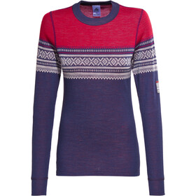 Aclima DesignWool Marius Crew Neck Top Dames, tango red